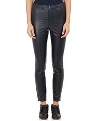 Etoile Isabel Marant Faux Leather Jeffery Pants black - Lyst