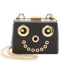 Boutique Moschino Smiley Face Cross Body Bag - Black