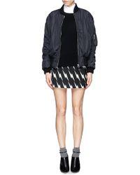 Neil Barrett Lightning Bolt Hopsack Mini Skirt - Black