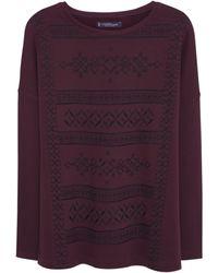 Violeta by Mango Embroidered Sweatshirt