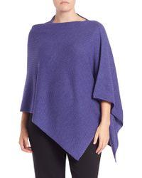 Eileen Fisher | Merino Wool Textured Poncho | Lyst