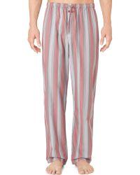 Calvin Klein Men'S Striped Pajama Pants U1726 pink - Lyst