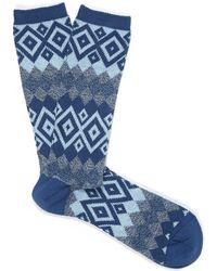 Anonymous Ism - Navy Diamond Socks - Lyst