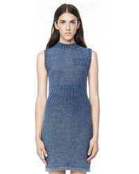 Alexander Wang Acid Washed Indigo Sleeveless Dress - Lyst