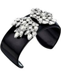 Sam Edelman Crystal Enamel Cuff Bracelet - Black