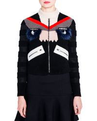Fendi Shearling & Fur Embellished Jacket - Lyst