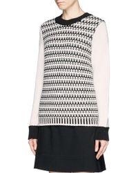Tory Burch Maxeen Mix Knit Sweater - Lyst