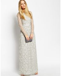 Needle & Thread Embellished Iridescent Tulle Maxi Dress - Lyst