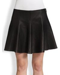 Polo Ralph Lauren Leather Skater Skirt - Lyst