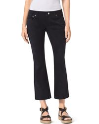 Michael Kors Cropped Flared Suede Pants - Blue