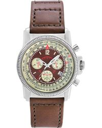 Tommy Bahama - Men'S Swiss Pilot Chronograph Brown Leather Strap 43Mm Tb1074 - Lyst