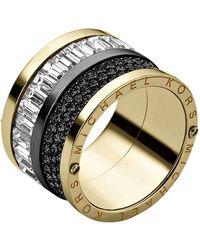 Michael Kors Pave  Baguette Ring - Lyst