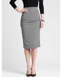 Banana Republic Striped Ruched Pencil Skirt - Lyst