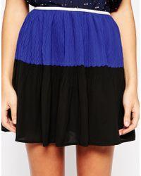 See U Soon - Pleted Skirt In Colourblock - Lyst