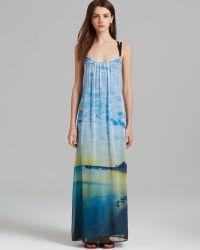 Twelfth Street Cynthia Vincent Maxi Dress Multi Strap Beach Photo - Multicolor
