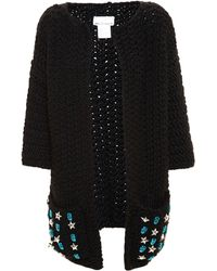 Wool And The Gang - Embellished Knitted Cardigan - Lyst