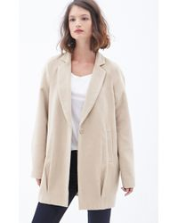 Forever 21 Beige Classic Peacoat - Lyst