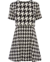 Oasis Dog Tooth Patched Dress - Lyst