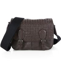 Bottega Veneta Gardena Medium Madras Messenger Bag - Lyst