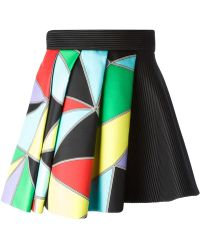 Fausto Puglisi Printed Pleated Layered Skirt - Lyst