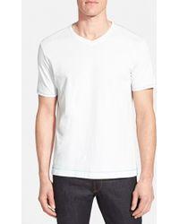 Robert Graham 'Barrel' Pima Cotton V-Neck T-Shirt - Lyst