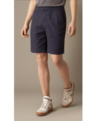 Burberry Relaxed Fit Cotton Shorts - Lyst