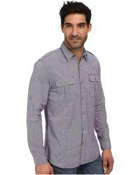 DKNY Ls Roll Tab Slub Mini Houndstooth Shirt in Garment Wash - Lyst
