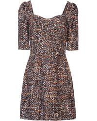 Dolce & Gabbana Brown Short Dress - Lyst