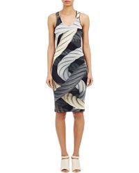 Christopher Kane Rope-Print Jersey Dress black - Lyst