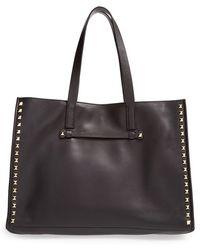 Valentino Rockstud Soft Leather Tote - Lyst