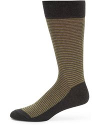 Saks Fifth Avenue Black Label - Feedstripe Socks - Lyst