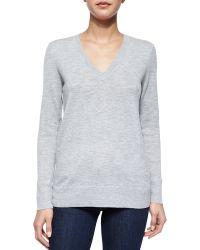 Rag & Bone Natalie Slub-Knit V-Neck Sweater - Lyst