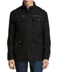 Emanuel Ungaro Wool-blend Zip-pocket Jacket - Lyst