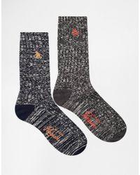 Original Penguin | 2 Pack Boot Socks In Gift Box | Lyst