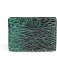 Saks Fifth Avenue Collection | Lizard Card Case | Lyst