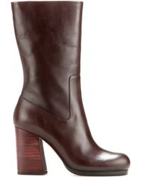 CALVIN KLEIN 205W39NYC - Bennet Leather Boots - Lyst