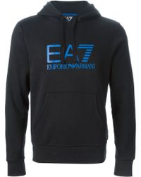Emporio Armani Logo Print Sweatshirt - Lyst