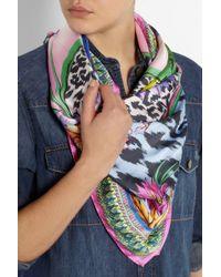 Matthew Williamson - Tropical Leopard Print Dna Silk Scarf - Lyst