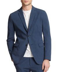 Theory Tobius Stretch-Cotton Sportcoat blue - Lyst