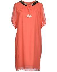 Matthew Williamson Short Dress pink - Lyst