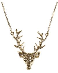 Hobbs - Nw3 Stag Necklace - Lyst