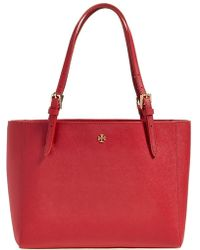 Tory Burch 'Small York' Saffiano Leather Buckle Tote - Lyst