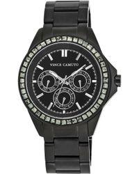 Vince Camuto Ladies Black And Swarovski Crystal Chronograph Watch