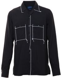 Lanvin Evening Shirt With Stitching - Lyst