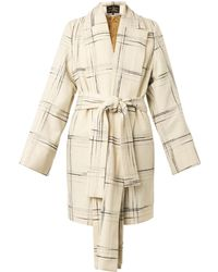 Vivienne Westwood Anglomania Discovery Tartan Wool-Blend Coat - Lyst
