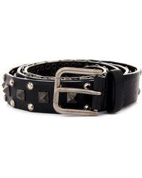 Dolce & Gabbana Studded Leather Belt - Lyst