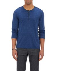 John Varvatos Space-dyed Henley - Lyst