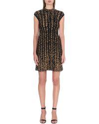 Roberto Cavalli Knitted Leopard Pattern Dress - Lyst