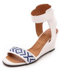 Chie Mihara Rupas Wedge Sandals - Leche - Lyst