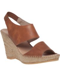 Andre Assous   Reese Leather Wedge Sandals   Lyst